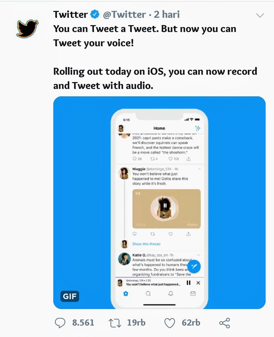 Kelebihan Fitur Tweet Audio di Twitter
