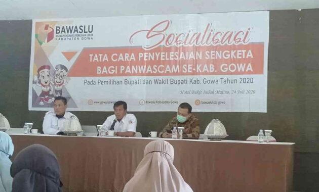 Bawaslu Gowa Gelar Sosialisasi Antisipasi Sengketa Pemilihan