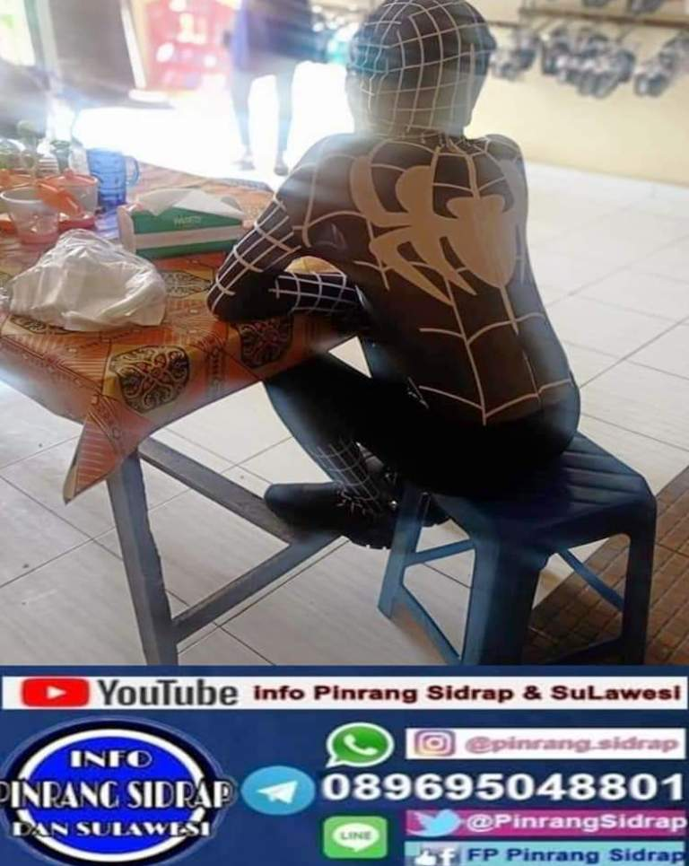 Spiderman black Pinrang