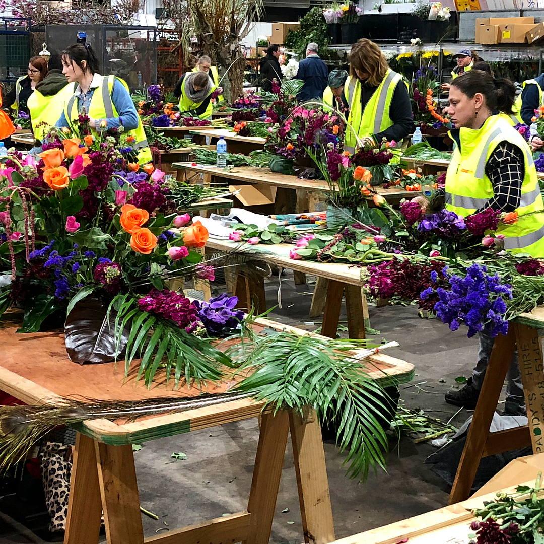 tempat wisata australia yang terkenal Sydney Flowers Market