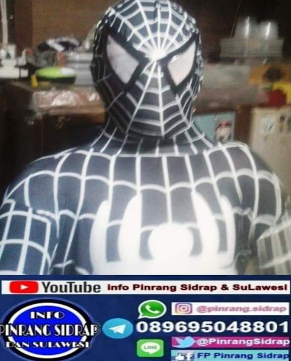Spiderman black berbagi nasi box