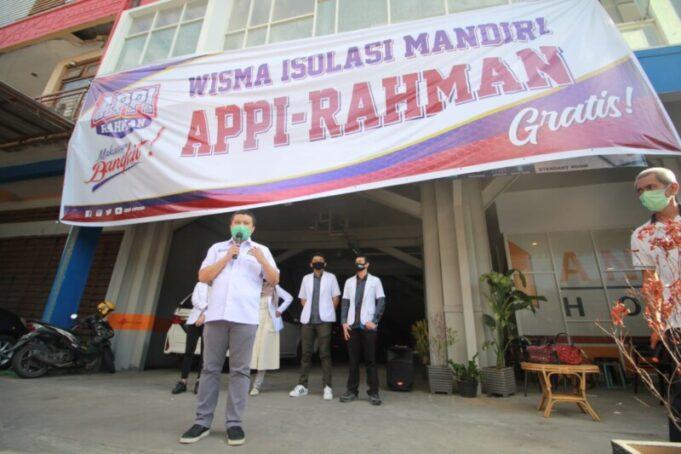 Wisma Isolasi Mandiri Appi-Rahman Bukti Nyata Keseriusan Basmi Covid-19. Gratis.