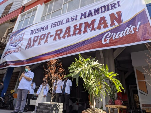 Erwin Aksa Resmikan Wisma Isolasi Mandiri Appi-Rahman