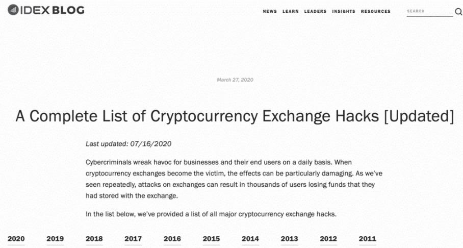 Daftar Kejadian Cryptocurrency Hacks