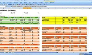 Contoh format laporan keuangan bulanan excel