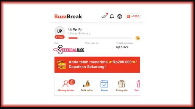 Cara Mendapatkan 200 Ribu Di Buzzbreak