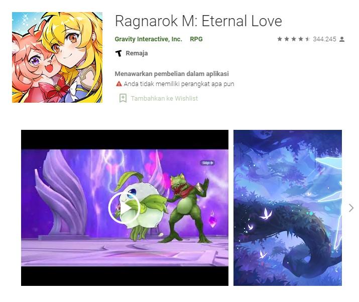 Ragnarok Eternal Love Database